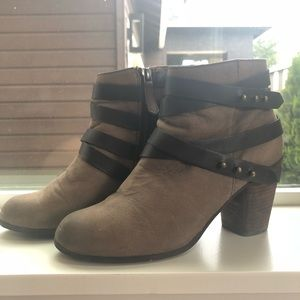 BP Heeled Booties with Straps and Studs